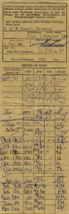 Gas Ration Card 1970