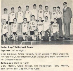 1959 - 60, Junior Boys Volleyball