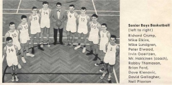 1959 - 60, Senior Boys Basketball