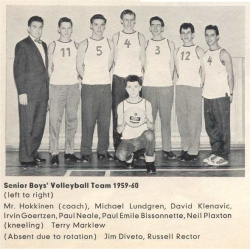 1959 - 60, Senior Boys Volleyball