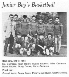 1964 - 65, Junior Boys basketball