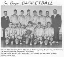 1966 - 67, Senior Boys Basketball