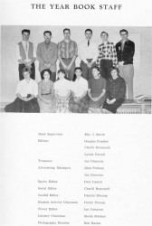 1959 - 60, Yearbook Staff