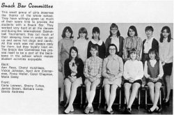 1968 - 69, Snack Bar Committee