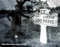 1960 Stuart Wilson, Harvey McLeod by sign to Verdun and Paris