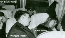 1965 - School Trip to Paris - Wolfgang Thaeter, Carol Siberry - On the way home