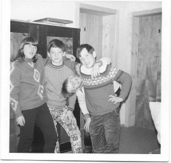 1971 Grade 7 Ski Trip to Biberweir, Austria Gail and Gang