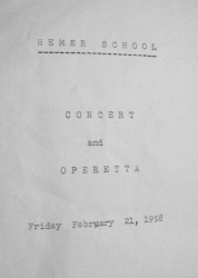1958 - Hemer School concert and operetta - 1