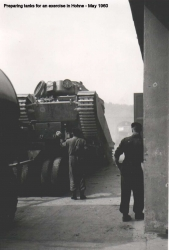 1960 May Preparing Tanks for an Exercise in Hohne