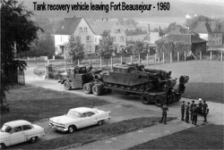 1960 Tank Recovery Vehicle leaving Fort Beausejour
