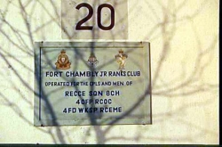 Fort Chambly Junior Ranks Club Sign