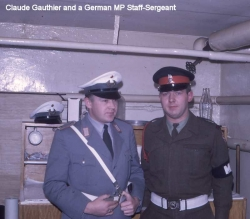 Claude Gauthier and a German MP Staff-Sergeant
