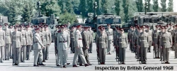 1968 Inspection by British General