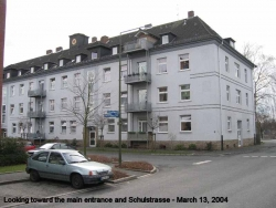 2004 March Looking towards the main entrance and Schulstrasse