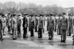 1970 Junior NCO Course Fort Qu'Appelle