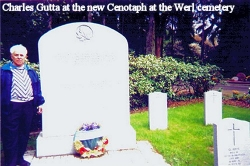 Charles Gutta at the new Cenotaph at the Werl Cemetary