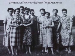 German staff who worked with WOII McGowan