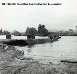 1965 4 Fd Sqn RCE - Hameln Bridge Camp on the Weser River