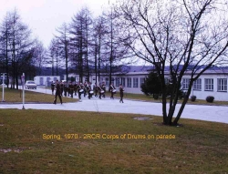 1970 Spring 2 RCR Corps of Drums on Parade
