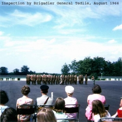 1966 August, Inspection by Brigadier General Tedlie