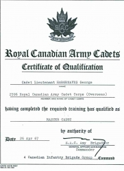 1967 April, Certificate of Qualification, RCAC