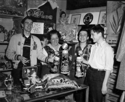 "1960 Werl Souvenir Shop Harold Harrison, Ray Dencer, and ""Sack"""