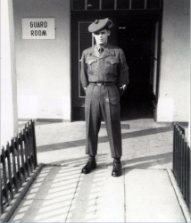 1963 Harry Proctor working in the Guard Room