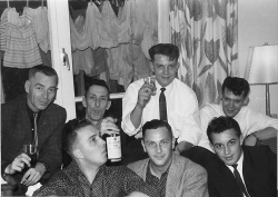 1963 In Werl PMQ,s Ahornalle Front row L to R?,?,Bob Klink. Back row, Harold Hayden, Les Lowther,Bill McCraight,Harry Proctor