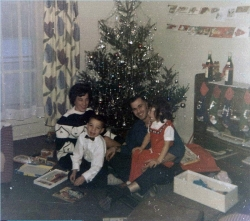 1963 The Christie family, George and Rose with their two children Frank and Carol Ann in Werl PMQ,s Ahornalle Christmas day.jpg