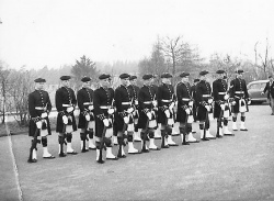 Honour Guard 1963 - 1 The first on the left is George Jackson