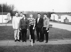 John Stevens 2nd from left, ..... Richard 2nd from right. Can't remember the names of the others