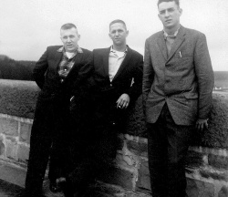 The photograph shows some members of C Company 2RHR on a visit to the Mohne Dam in about 1962. LtoR: Jim Empson, Lloyd Denault, Max Carroll