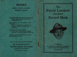 Scouts The Patrol Leaders Pocket Record Book