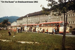 """1962 """"On the Buses"""" on Breslauerstrasse"""